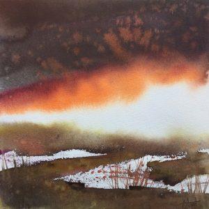 Terre d'Arrée, aquarelle de Françoise Amet