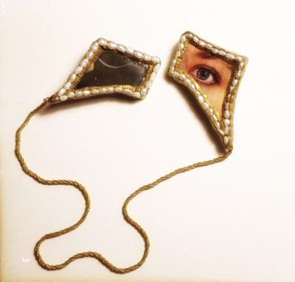 Lover's eyes, broche double de Delphine R2M