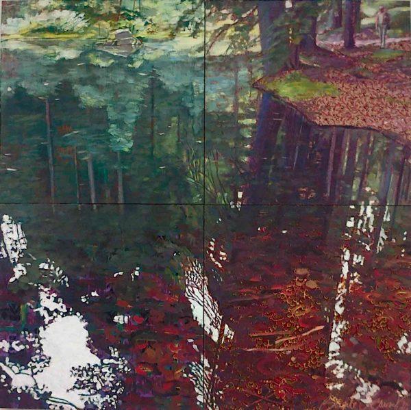 L'étang des Framboises - Peinture de Brigitte Béguinot