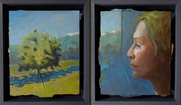 Le corbeau, peinture de Marie Thorndahl