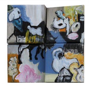 La vache volante- Tableau de Karly et Anne V