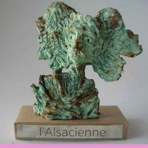 L'Alsacienne, sculpture de Laurence Scheer