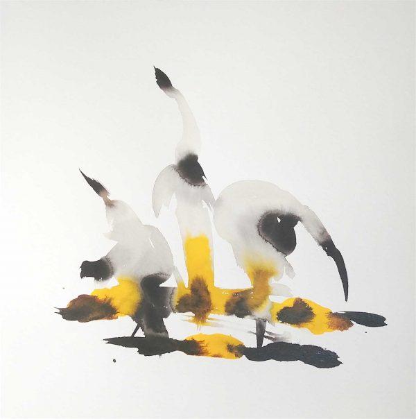 Une oeuvre de Michèle Schembri intitulée Les neigeux 2020