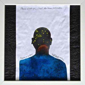 L'Homme au couchant, peinture de Michel Delmote